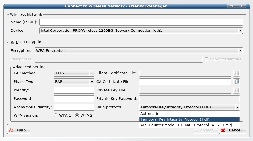 knetworkmanager with TKIP/AES-CCMP support and GNOME 2.20 \u2013 /home